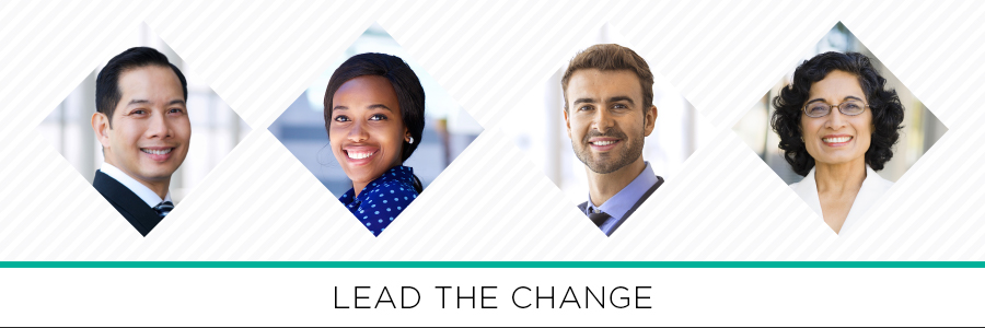 Lead the change - Four Headshots