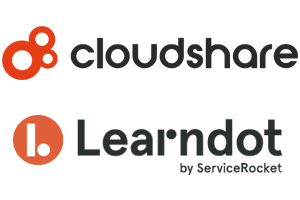 CloudShare and Learndot (by ServiceRocket) logos