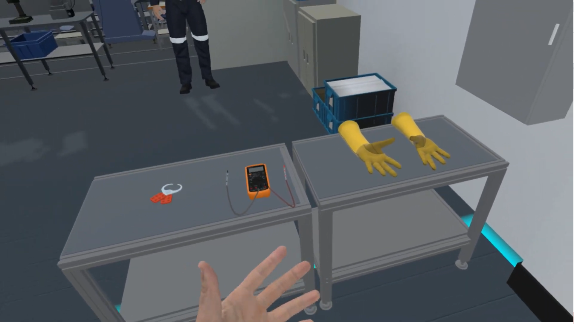 Simulation of electrical safety training