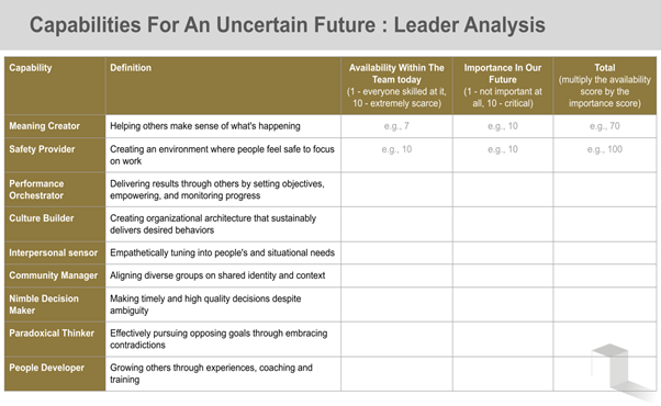 Capabilities for an uncertain future