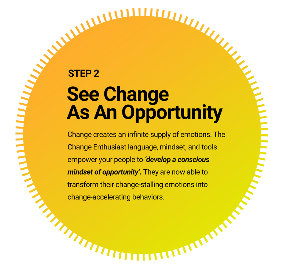 See change as an opportunity